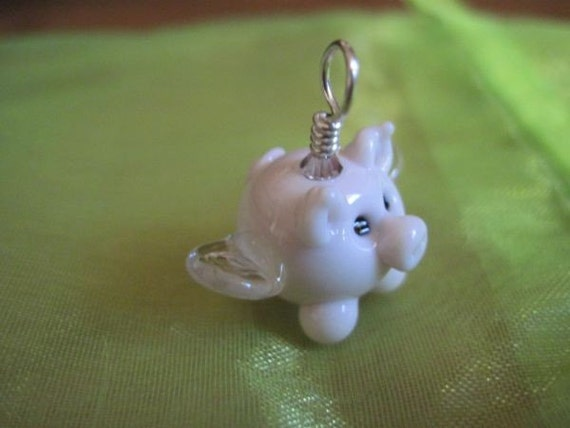 When Pigs Fly - Handmade Lampwork Bead Pendant