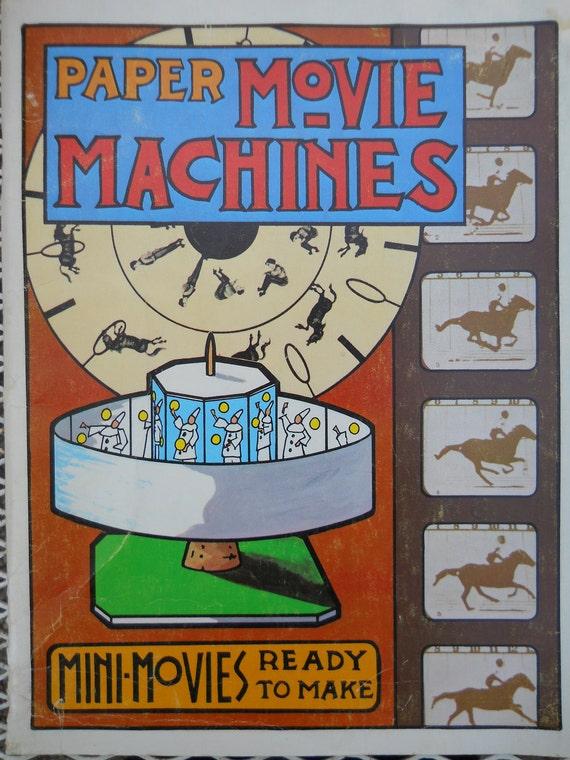 vintage paper movie machines book troubador press san francisco 1975