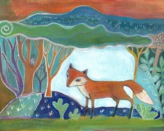 Art Print, Little Fox