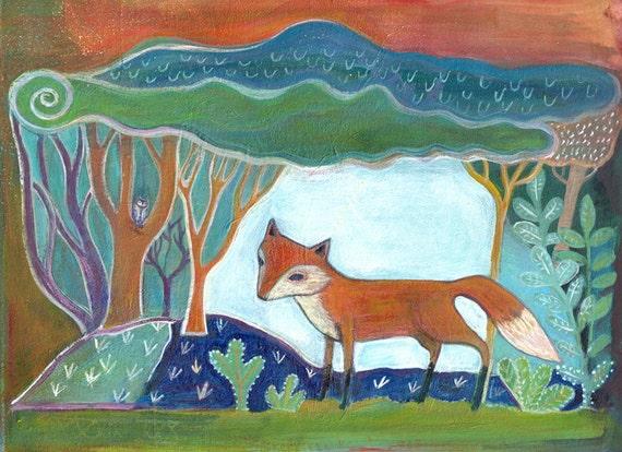 Art Print, Little Fox