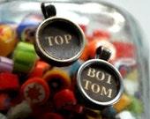 Vintage Typewriter Key Pendants - Top and Bottom