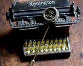 Go Away ----- Authentic Vintage Typewriter Key ----- Hat Pin ----- Stick Pin For The Unsociable