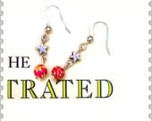Tiny Mismatched Earrings - Flower Bead & Star
