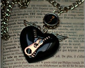 Typewriter Key Necklace - Unzip My  Black Heart