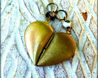 BFF Necklace - Heart Segment Pendants - Equal Parts - Civil Partnership