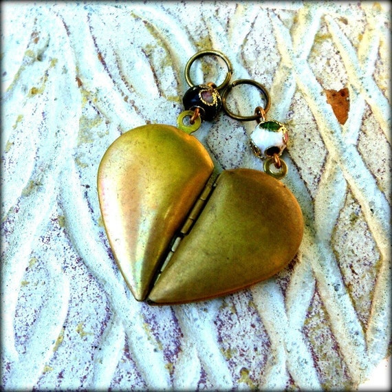 BFF Necklace - Heart Segment Pendants - Equal Parts - Civil Partnership