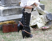 Steam-punk Victorian Spats (RESERVED for intentionallycales)