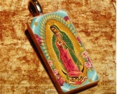 Virgin Guadalupe Domino Necklace