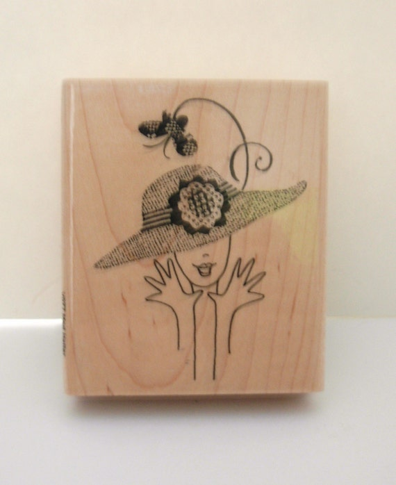 Mod Hatter Montage Collection Stampendous Rubber Stamp  SALE