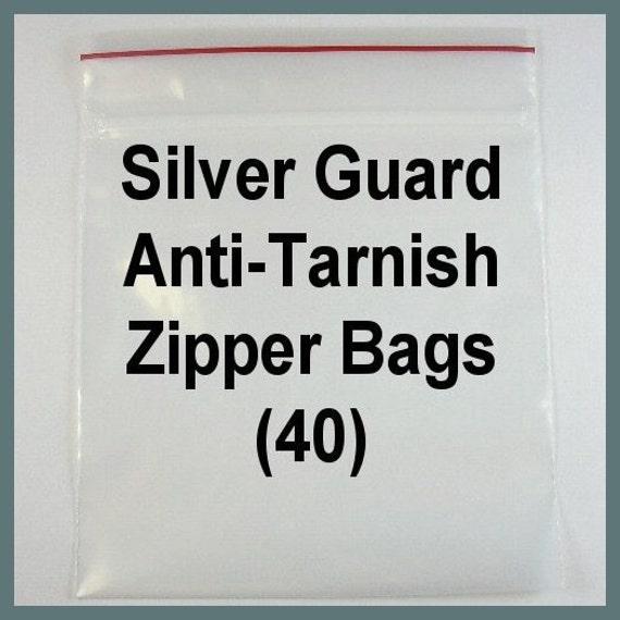 40 4x4 Tarnish Resistant Zipper Bags