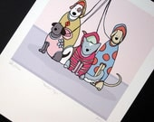 Perfect Pups- Signed Archival Print of Original Illustration