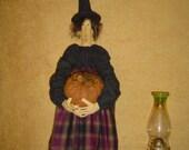 Primitive Doll ePattern Halloween Folk Art Witch with Pumpkin by Raggedyrhondas Originals MHA faap fall sale