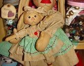 Easter Bunny Sewing Pattern  2 dolls Mom and baby Primitive Rabbits