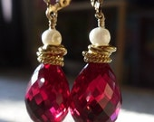 Angaraka - Red Topaz Earrings