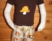 Shroomy - Embroidered Tee and Shorts Set - 18m