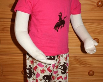 Rodeo Girl - Embroidered Tee and Shorts Set - 24m