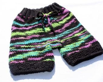 Firefly - Hand Knit Organic Mernio Wool Shorts - Small