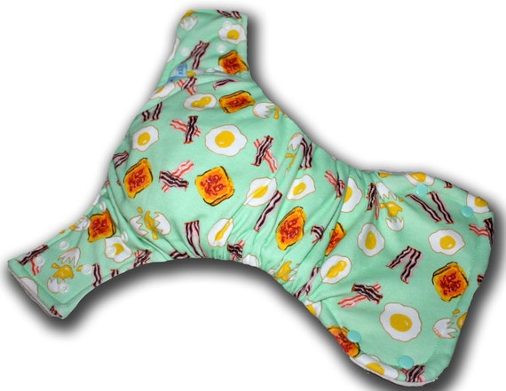 Eggs and Bacon - Toddler OBV BedBug Plus Night Time Cloth Diaper