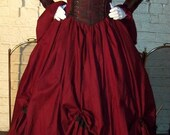 Dracula Gothic  Renaissance Pirate Gown Dress costume Vampire Womens custom