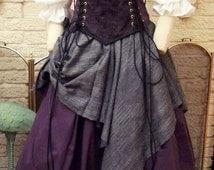 Renaissance Corset Dress purple Witch Wench custom Gown costume