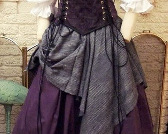 Renaissance Corset Dress purple Witch Wench custom Gown costume