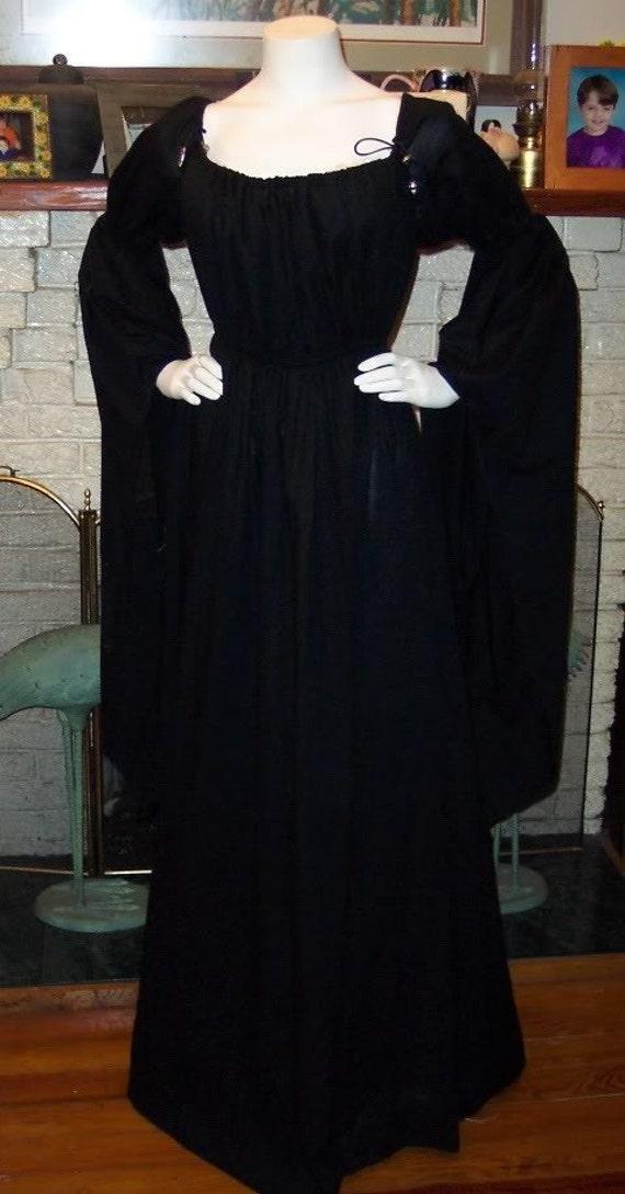 Black Witch Pirate Wench Dress Renaissance Chemise