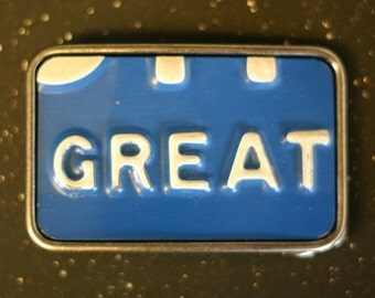 License Plate Belt Buckle - Great - Michigan