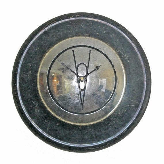 Hubcap Clock 1939 Vintage Ford With Embossed V8 On Sale