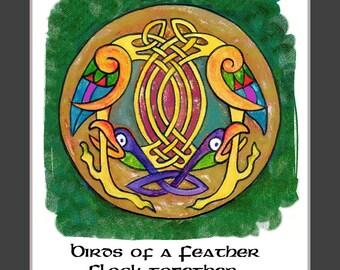 Celtic Irish ,  Knotwork   Bird Art