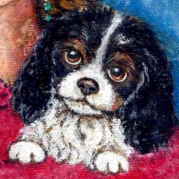 Spaniel Dog Painting / Girl painting