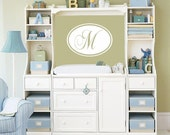 Monogram Oval with Initial Vinyl Decal