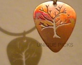 "Copper Guitar Pick ""Tree of Life"""
