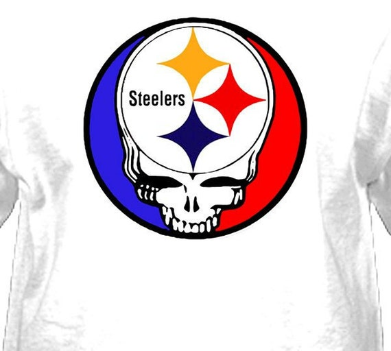 Steal Your Pittsburgh Steelers  Grateful Dead Lot Style Shirt     Large   XL