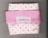 Pink Polka Dottie Travel Lovie Blanket
