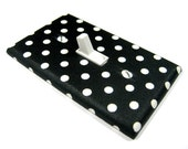 Black and White Polka Dot Light Switch Cover Rockabilly Decor Decoration Switch Plate Switchplate Outlet