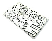 Black and White Sheet Music Notes Light Switch Cover Musical Notes Nursery Decor Switchplate Switch Plate Musician Gift