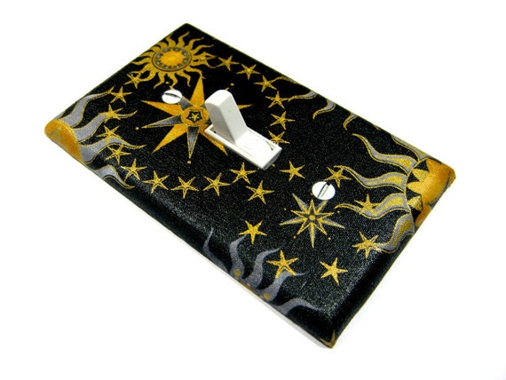 Items Similar To Black Celestial Sun Moon And Stars Light
