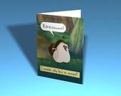Legend of Zelda Greeting Card - Kikwi (Custom Printable Template)