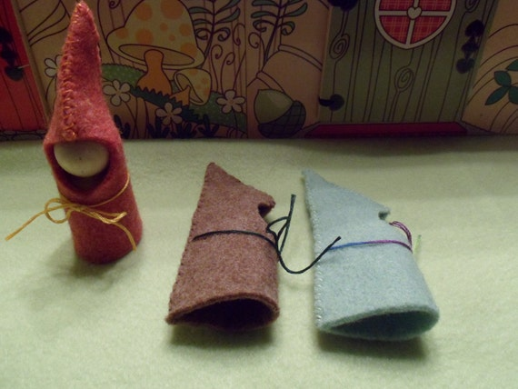 Little Miss Forest Dress Up Waldorf Style Gnome Comes with 3 outfits Peg People