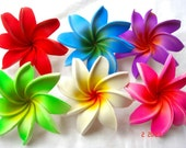 Pick Your color - 10 Pcs Beautiful Stunning Artificial Exotic Mix Color Tahiti Medium Foam Flower 2,4 inch
