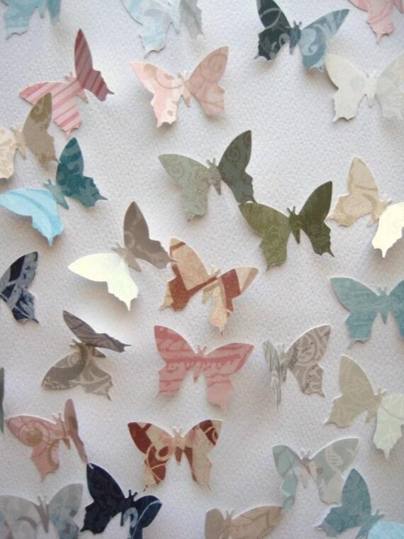 48 Pearlized Butterfly embellishments noE145