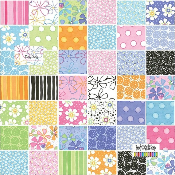 Dilly Dally Charm Pack MODA no2504 Sale