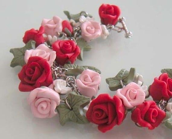 Garden Charm Bracelet Charm Bracelet Polymer