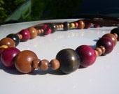 Long Wooden Beaded Necklace - FREE Shipping