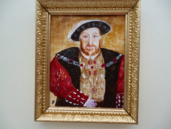 Henry VIII, Miniature painting, one 12th scale