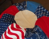 Americas Cup Stars and Stripes Sailboat Bean Bag chair NEW