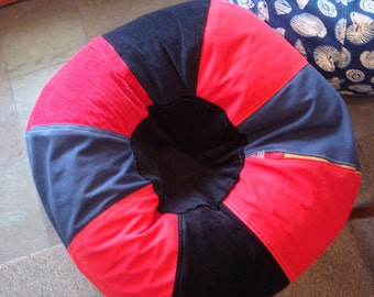 Sporty Red and Blue Bean Bag chair classic and cool