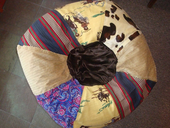 Chic Cowgirl Vintage Style Western Bean Bag Chair