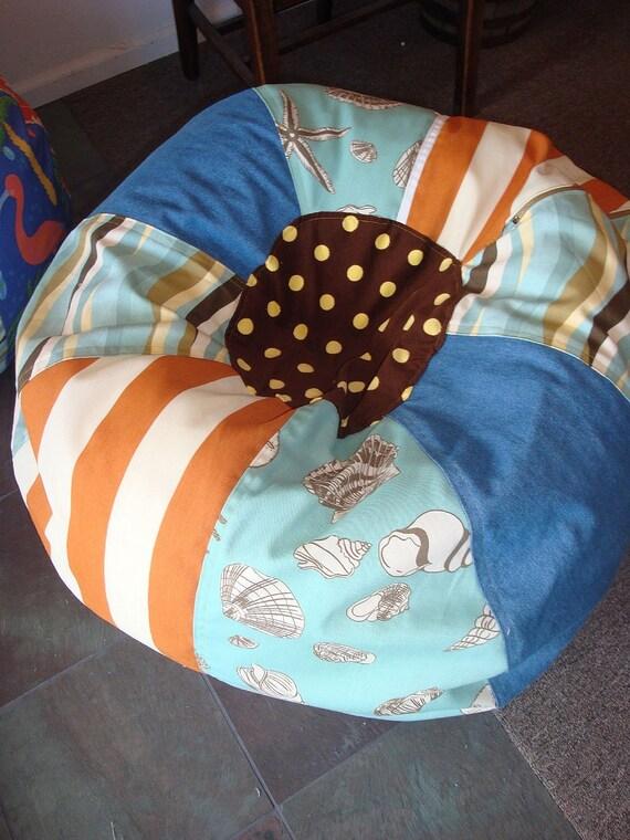 Seashell Beach Bean Bag Chair New By Paniolo On Etsy