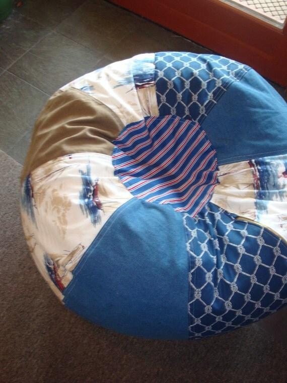 Retro Vintage Style Nautical Sailboat Bean Bag pillow chair